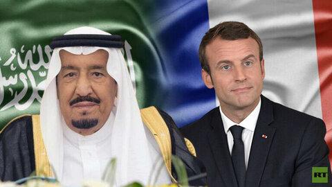 تماس تلفنی مکرون با پادشاه عربستان