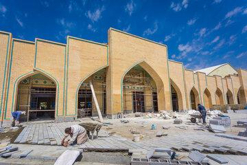 روند پیشرفت سالن اجتماعات گلستان شهدای اصفهان