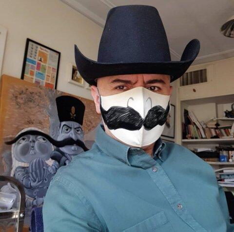سبیل مبارک بر روی ماسک