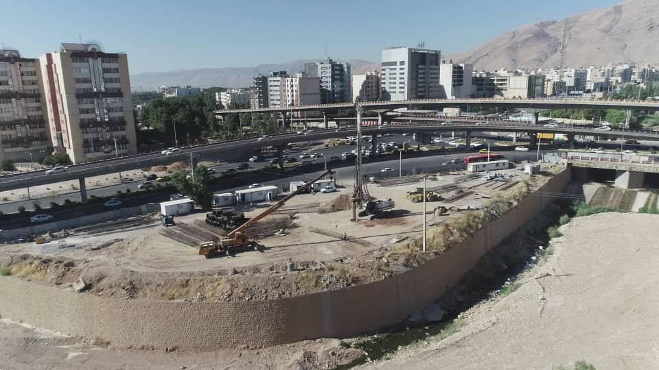 احداث ایستگاه خط ۳ مترو شیراز زیر تراز رودخانه
