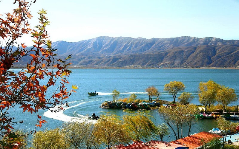 Zarivar Lake in Kurdistan