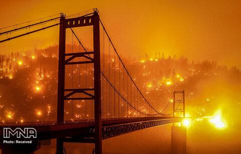 آتش سوزی مهیب در کالیفرنیا، آمریکا