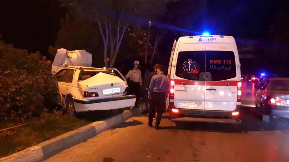 واژگونی خودرو شهروندان خارجی در مهریز