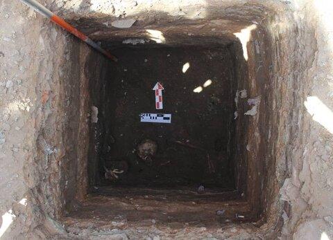 کشف یک اسلکت با تدفین اسلامی در آذربایجان غربی