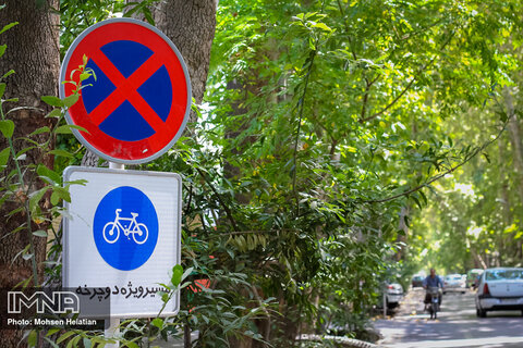 Implementation of 777 km cycling routes in Isfahan