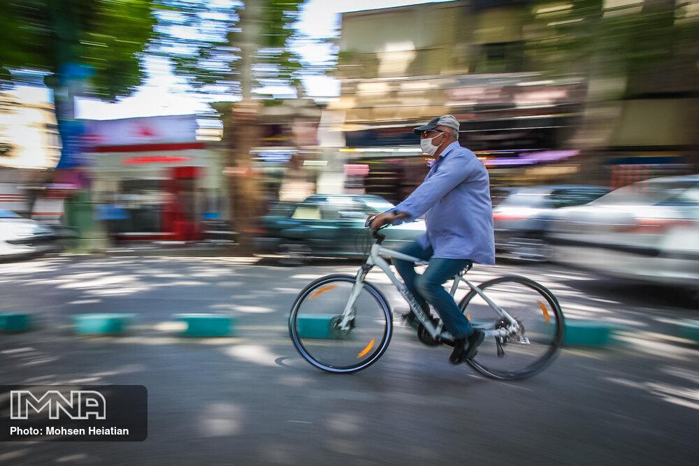 ۵۱ فقره تصادف سهم دوچرخهسواران تهرانی