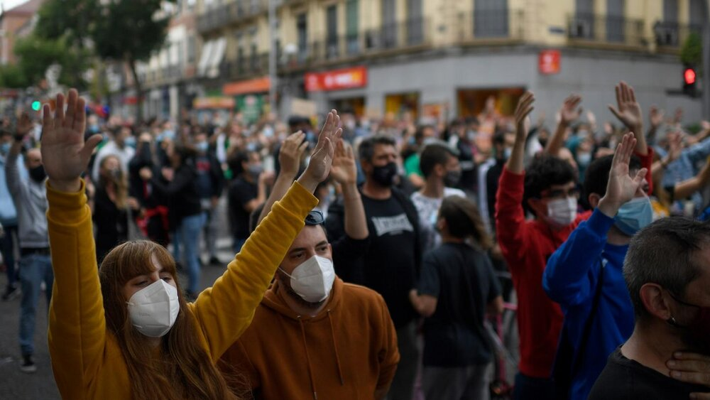 افزایش خشونتها در اسپانیا در پی شیوع مجدد کرونا