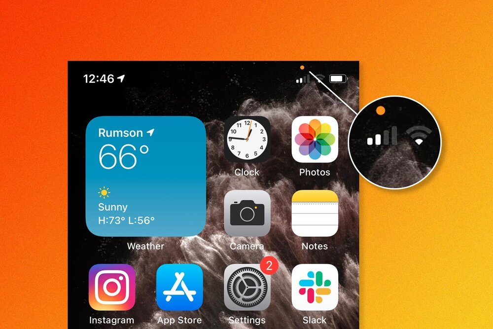 نقطه نارنجی و شنود گوشیهای آیفون! + جزییات آیاواس ۱۴ (iOS 14)
