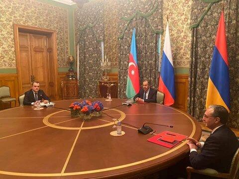 نشست وزیران خارجه روسیه ارمنستان و آذربایجان در مسکو برگزار شد