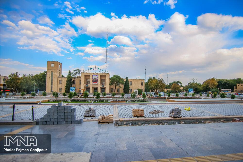 پروژه سنگ فرش میدان امام حسین(ع)