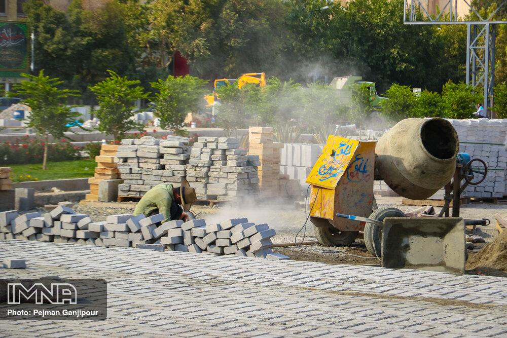 اجرای بیش از ۳۵ هزار مترمربع سنگفرش در معابر شهری پرهسر