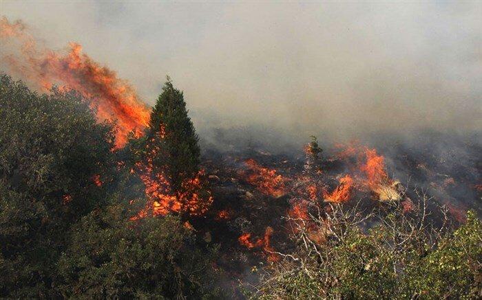 اعزام بالگرد جهت مهار آتشسوزی در مراتع استانهای فارس و کردستان