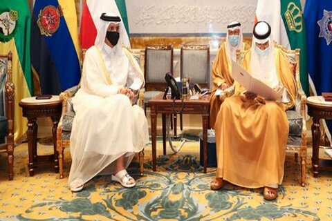 پیام مکتوب امیر قطر به همتای کویتی