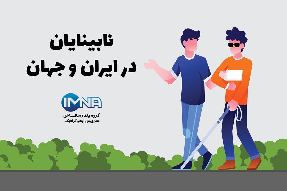 نابینایان در ایران و جهان/اینفوگرافیک