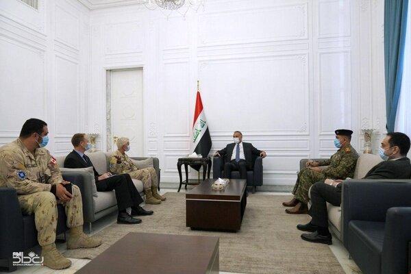 دیدار و گفتوگوی الکاظمی با فرمانده نیروهای ناتو در عراق