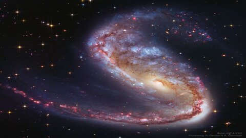 کهکشانی شگفتانگیز در صورت فلکی ماهی پرنده
