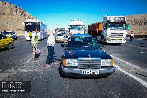 ۲۵۹۱ خودرو از ورویهای اصفهان به شهرهای خود بازگردانده شدند