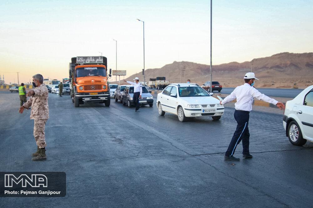 ممنوعیت ترافیکی ۱۳ فروردین در شهرهای نارنجی و قرمز از امروز آغاز شد