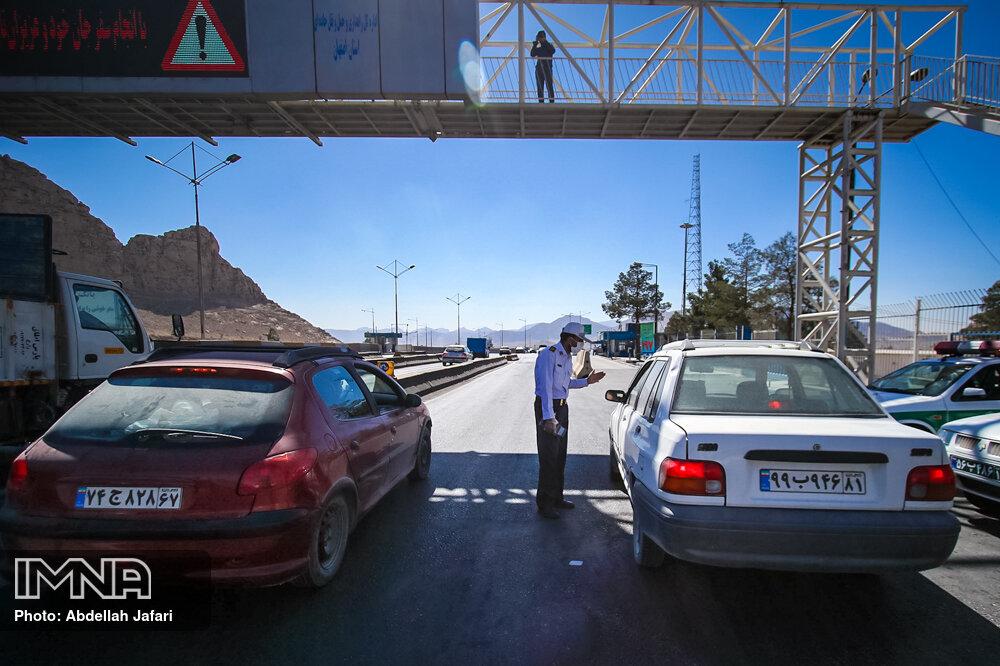 جریمه بیش از ۴۲هزار خودرو در طرح محدودیت شبانه طی روز گذشته