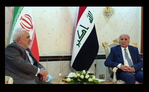 رایزنی تلفنی وزیران امور خارجه ایران و عراق