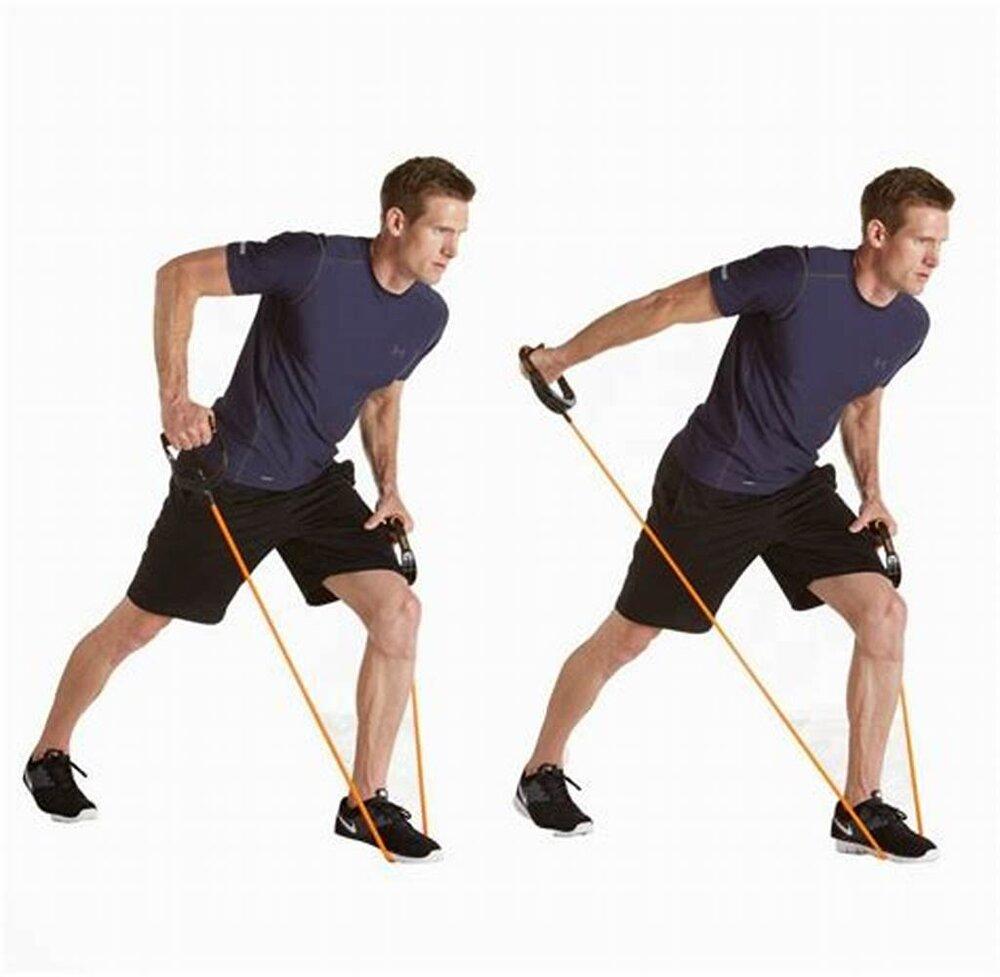 آموزش بدنسازی با کش ورزشی + عکس