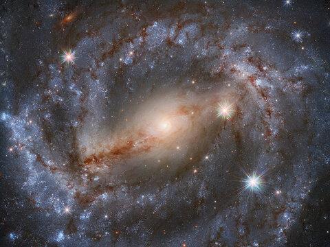 کهکشان NGC 5643 در قاب تلسکوپ هابل