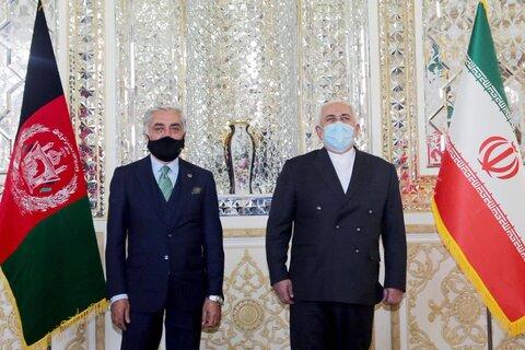 عبدالله عبدالله: با ظریف درباره روند صلح افغانستان تبادل نظر کردم