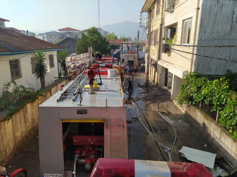 آتشسوزی آپارتمان مسکونی در لنگرود مصدومی نداشت