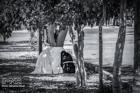 در فضای سبز اندک وسط محله که قدم میزنی، ناگهان میبینی که چقدر راحت دو زن جوان مشغول کشیدن مواد میشوند و چادری هم بر سر میکشند تا دیده نشوند
