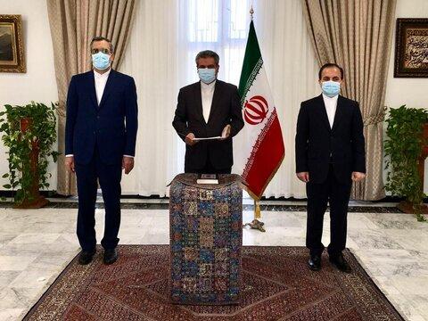 برگزاری نخستین مراسم ادای سوگند مدیران حوزه کنسولی و ایرانیان وزارت خارجه