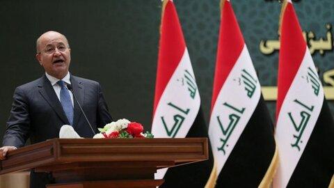 برهم صالح: باید پیروزی بر تروریسم را تکمیل کنیم