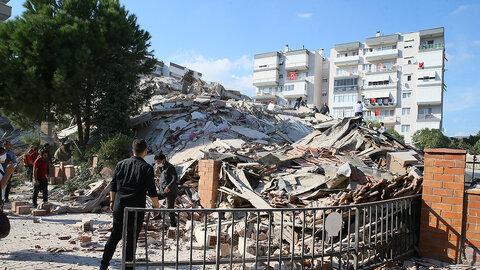 خرابیهای زلزله ازمیر ترکیه + فیلم