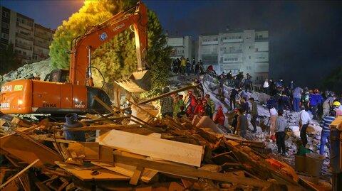 تعداد کشته شدگان زلزله ازمیر به ۱۲ نفر رسید