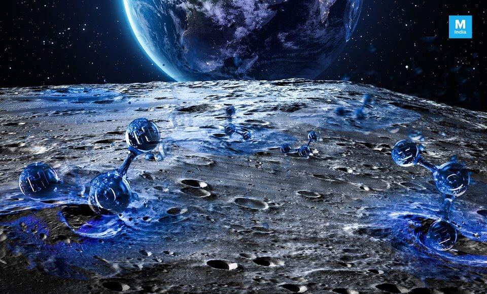 منشأ آب موجود روی سطح کره ماه چیست؟