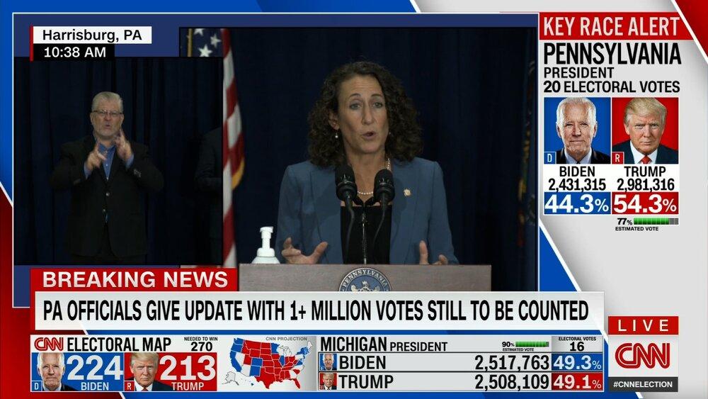 ۳ میلیون رای پستی در پنسیلوانیا شمرده نشده است