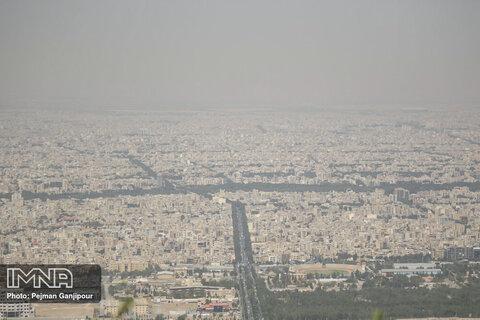 شاخص کیفیت هوای اصفهان و ۲ شهر مجاور قرمز است