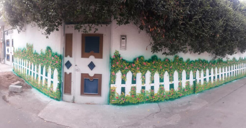 احیای دیوارهای مذموم بافت شهری با نقاشی دیواری در محمود آباد