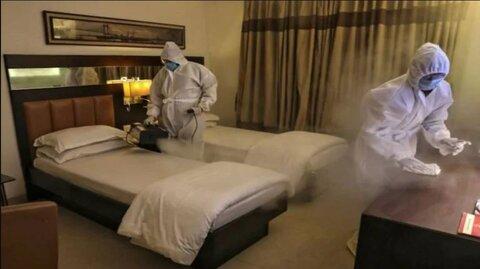مسافران در هتل فرودگاهی قرنطینه می شوند