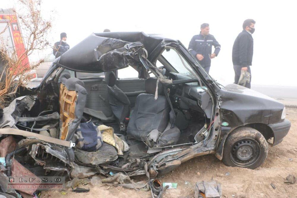 سرنشین خودرو پراید بر اثر برخورد با تریلر درگذشت