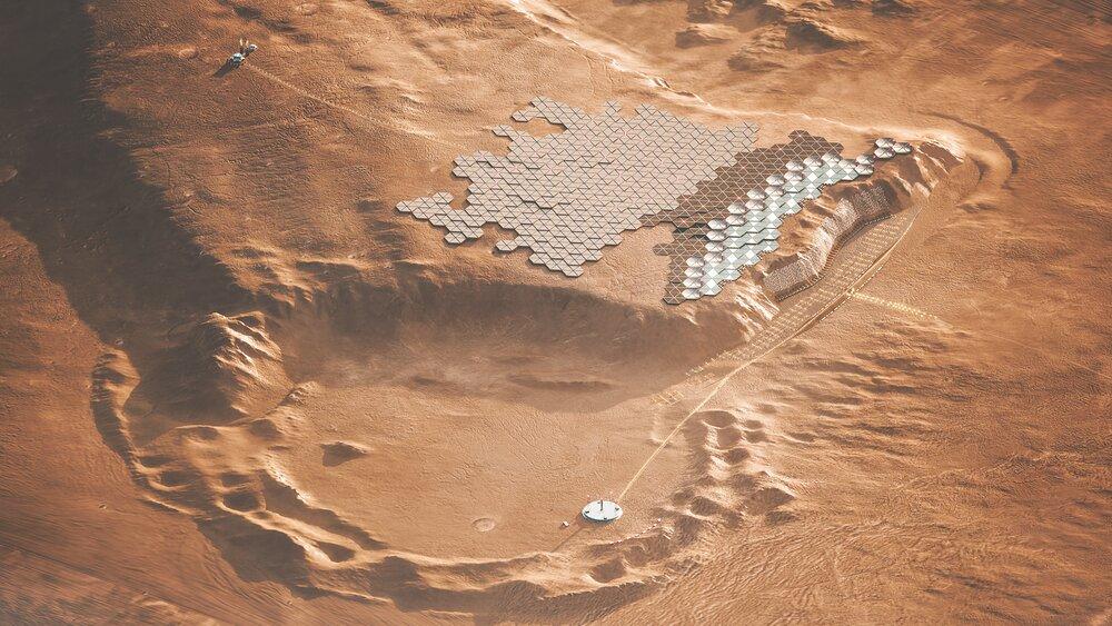 """شهر مریخی """"نووا"""" طراحی شد"""