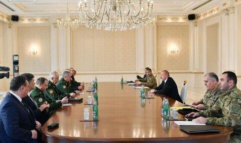 وزیر دفاع روسیه به آذربایجان سفر کرد