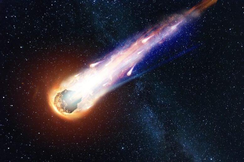 ثبت لحظه ورود یک شهابواره به زمین
