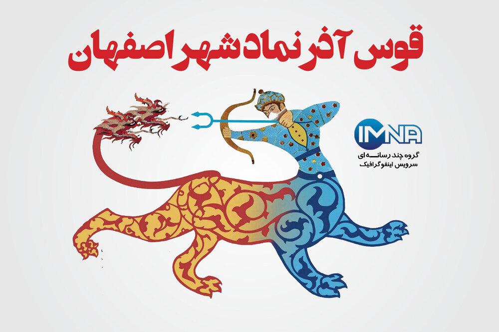 """""""قوس آذر"""" نماد شهر اصفهان/اینفوگرافیک"""