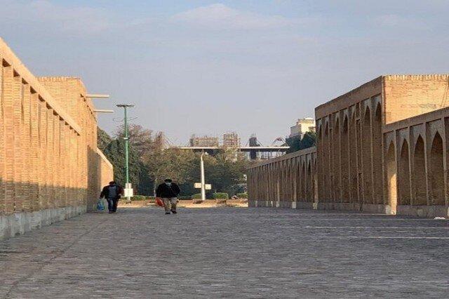 توقف ساخت و سازهای غیرمجاز در حریم پلتاریخی خواجو
