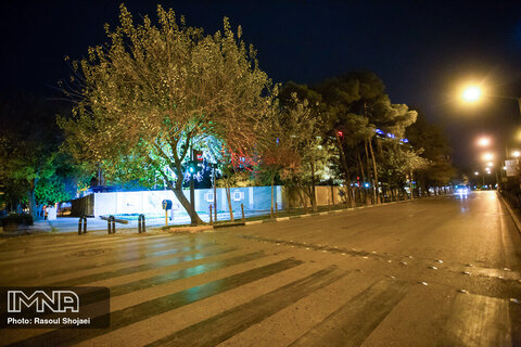 Isfahan's bustling streets turned into ghost zones