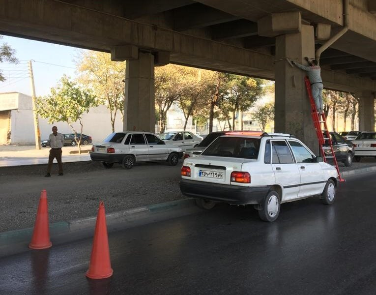 نوسازی نورپردازی فاز سوم روگذر خیابان امام خمینی(ره)
