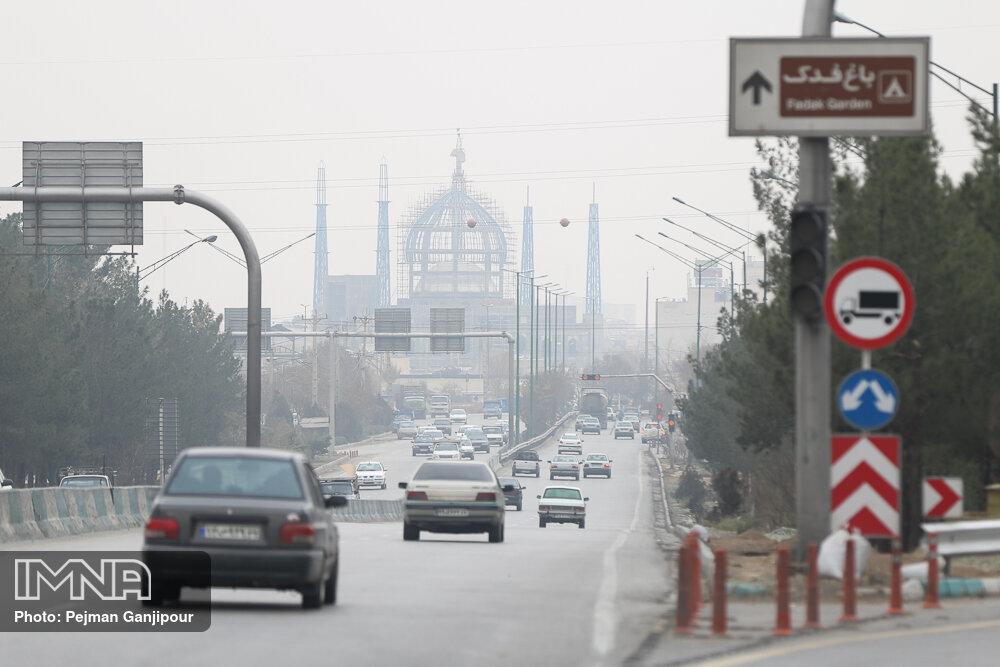هوای اصفهان ناسالم و در وضعیت نارنجی است
