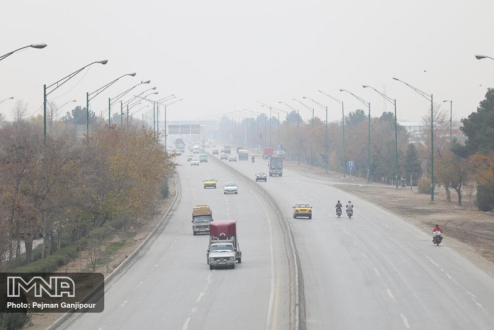 وضعیت هوای اصفهان نارنجی شد