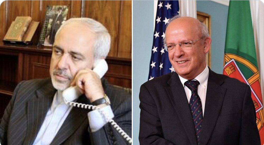 رایزنی تلفنی وزیران خارجه ایران و پرتغال