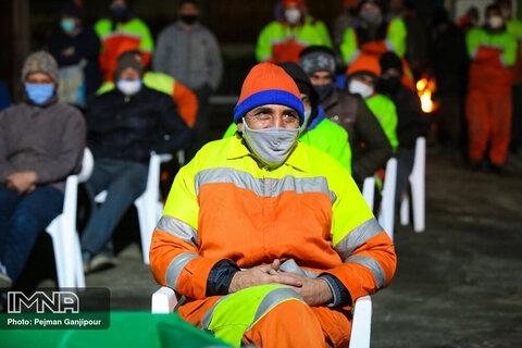 تجلیل از پاکبانان تهران در نوروز